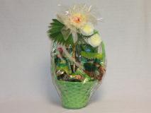 Darčekový kôš - zelený list