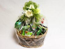 Darčekový kôš - Zelená mašľa
