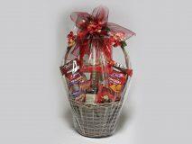 Darčekový kôš - Červená hortenzia